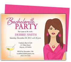 Printable DIY Bachelorette Party Invitations : Pleasure Time Bachelorette Party Invitation Template for WORD, Publisher, OpenOffice, and Apple iWork Pages. Download, edit, print.
