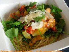 Spaghetti aux scampis et courgettes à l'italienne
