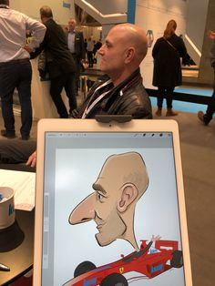 ipad Live karikatur med Allan Buch. farve profilfoto4 Caricatures, Ipad, Live, Illustration, Caricature Drawing, Illustrations, Caricature