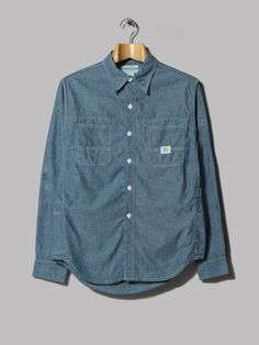 Sassafras Gardener Half Sleeve Shirt (Blue 5oz Chambray)