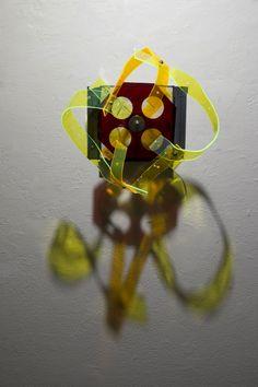 Thyatira, 2015 Steel, wood, plexiglass 13 x 13 x 10 inches  By artist Chad Waples