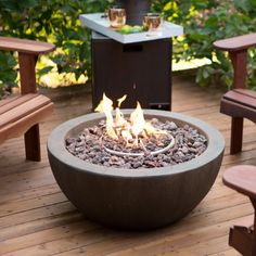 Gas Fire Pit Bowl With FREE Cover