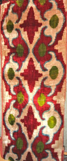 Uzbek Silk Velvet by bazaarbayar on Etsy, $95.00