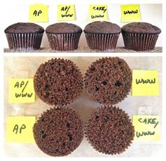 From White to Wheat, A Baker's Guide on Cupcakes ~ Carrot, Lemon & Chocolate cupakes Comparison with All-Purpose Flour, AP/White Whole Wheat Blend, Cake Flour/WWW, & 100% WWW. ~ King Arthur Flour