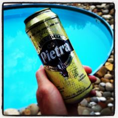 #Pietra by the pool - she's a beauty in a can