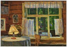 Грицай Алексей Михайлович (Россия, 1914-1997) «Вечер в доме худложника Андрея Тутунова» 1962