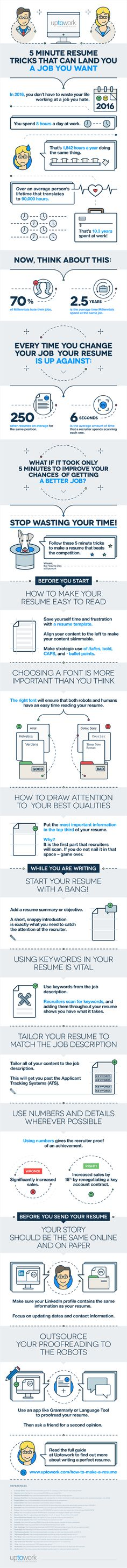 7 Tips On How To Write A Resume That Grabs Recruitersu0027 Attention  [Infographic  Work Resume
