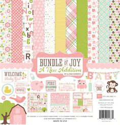 Echo Park Bundle of Joy 2 Baby Girl Scrapbook Collection Kit - 11 Main