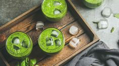 An easy and fun way to make veggies inviting is to make a green smoothie. This healthy drink is delicious and includes the powerful cleansing benefits of Wild Orange oil. 10 Day Green Smoothie, Green Smoothie Recipes, Healthy Smoothies, Healthy Drinks, Drink Recipes, Detox Drinks, Healthy Treats, Healthy Life, Healthy Living