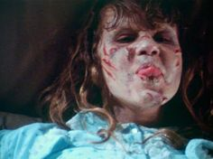 Linda Blair ... behind the scenes of The Exorcist