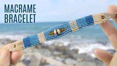 Sea Pearl Striped Beach macrame Bracelet (Teaser)