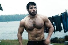 Henry Cavill Body in the movie Man of Steel