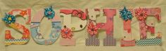 Letters wooden letters cute idea from etsy pinned from etsy com