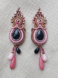 Browse unique items from SoutacheBijou on Etsy, a global marketplace of handmade, vintage and creative goods. Soutache Jewelry, Belly Button Rings, Jewellery, Unique, Creative, Handmade, Etsy, Vintage, Fashion