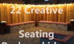 backyard seating desings