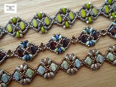 Pattern for Diadem Bracelet with Silky Beads di WescottJewelry