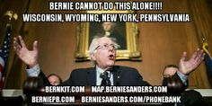 #FuelTheBern... Wisconsin, Wyoming, New York & Penna, it is our turn to take the challenge! We need to increase voter registration & turnout!