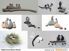 #Pebble art by Sharon Nowlan                                                                                                                                                                                 More