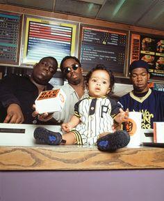 "15.6k Likes, 193 Comments - C H I M O D U (@chimodu) on Instagram: ""Caption this one...😉 - Biggie , Puffy , Craig Mack and Justin! NYC 1994 #biggie #diddy #badboy…"""