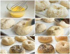 The only and best bagel recipe you will ever need complete with step-by-step instructions. These bagels have a delicious flavor and are perfectly dense and chewy with a lovely outer crust. Bagels, anyone? You got 'em. Bread Machine Recipes, Bread Recipes, Salad Recipes For Dinner, Breakfast Recipes, Southern Caramel Cake, Best Bagels, Homemade Bagels, Bagel Recipe, Cinnamon Bread