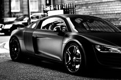 Another great looking car in matte black; Audi R8