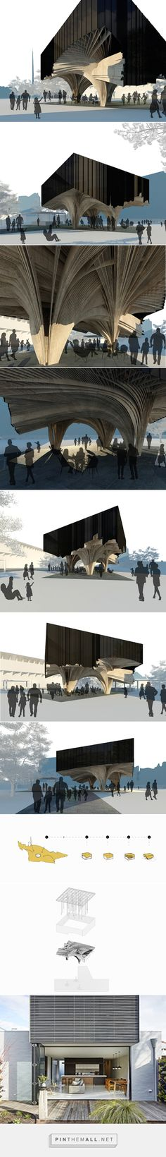 NAAU studio utilizes geography to formulate garden pavilion concept - created via https://pinthemall.net
