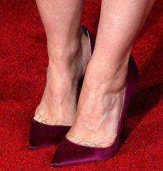 Kristen Bell in Christian Louboutin 'Iriza' Half d'Orsay Heels
