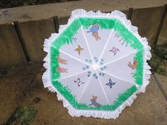 My new bunny parasol.For Etsy.