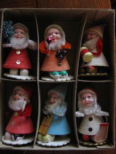Shiny Brite vintage elves <3!
