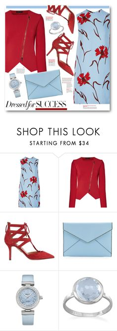 """""""Dressed for Success in Blue and Red"""" by brendariley-1 ❤ liked on Polyvore featuring Miu Miu, Roland Mouret, Aquazzura, Rebecca Minkoff, OMEGA and BillyTheTree"""