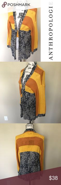 Anthropologie Maple Redondo Tassel Cardigan Boho cardigan with tassel detail in front. 59% linen 41% cotton Anthropologie Sweaters Cardigans