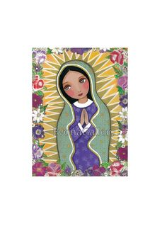 Our Lady of Guadalupe Art Painting Print Mounted by Evonagallery