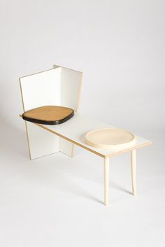 Martino Gamper  Bench Chair  2008  Melamine faced chipboard and re-used furniture elements 136 x 55 x 80cm