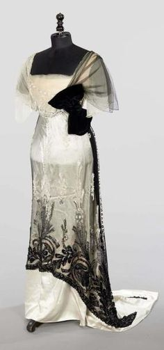 1911 evening dress-alternate evening dress for Emmeline for Catharine's engagement party