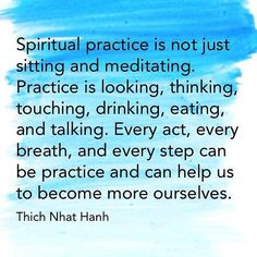 spiritual practice...