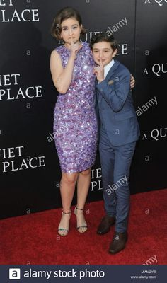"""New York, NY, USA. Apr, Millicent Simmonds and Noah Jupe attends the New York premiere of """" A Quiet Place"""" at Loews Lincoln Square on April . Lincoln Square, A Love So Beautiful, Deaf Culture, Ny Usa, Oprah Winfrey, Beautiful Celebrities, Jennifer Lopez, Celebrity Crush, Kate Middleton"""