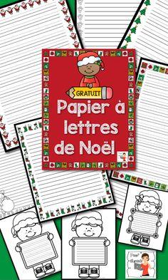 GRATUIT-Papiers à lettres pour vos centres de littératie ou d'écriture pendant le Temps des Fêtes. Modèles noir et blanc, et en couleurs, avec ou sans les trottoirs pour vos jeunes élèves.