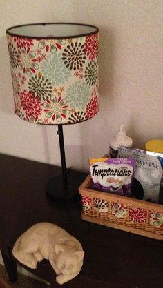 how to turn a basket into a lamp shade