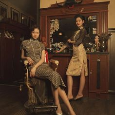 #vintagestyle #1930s #cheongsam #makeupdesign #advertisement  makeup&styling:me! phtographer:@choophy model:孔敬&孙依凡