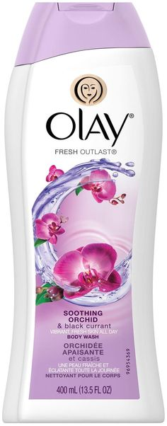 Olay Fresh Outlast Body Wash - Soothing Orchid & Black Currant