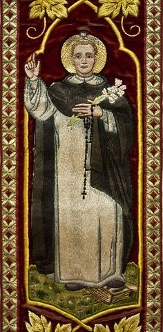 Detail of embroidery from a chasuble of St Dominic,
