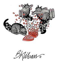 Valentine Cats by B. Kliban