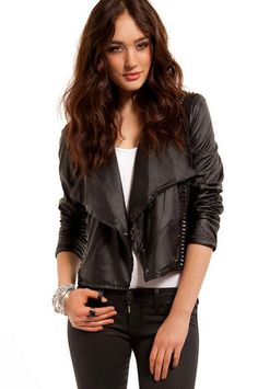 Blank Spike Vegan Leather Jacket $158 at www.tobi.com