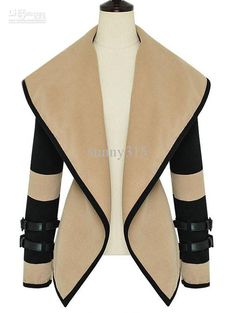 Sexy Long Leather Coats Women | Sexy 2013 New Fashion Women Leather Sleeves Wool Military Jacket Plus ...