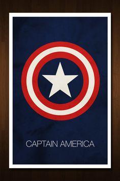 Captain America Avenger Art Print - Inspired by Comic Book and Film 'The Avengers' - 11x17. $13.99, via Etsy.