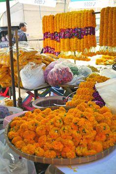 Marigold flower, Bangkok's largest flower market, Pak Klong Talat, Thailand