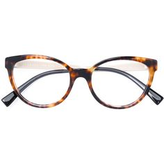 a2c673f66160a Versace tortoise contrast frame glasses found on Polyvore featuring  polyvore, women s fashion, accessories,