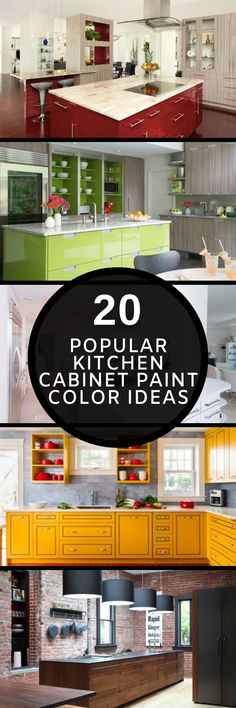 It's incredible how lovely a kitchen could be just by focusing on kitchen cabinet paint colors. There are many popular kitchen cabinet colors you can use. Kitchen Cabinet Color Schemes, Cabinet Paint Colors, Black Kitchen Cabinets, Painting Kitchen Cabinets, Black Kitchens, Wood Cabinets, Minimal Kitchen, Basement Remodeling, Cabinet Doors