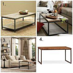 Vittsjo Ikea Hack - DIY Industrial Chic Wood Coffee Table