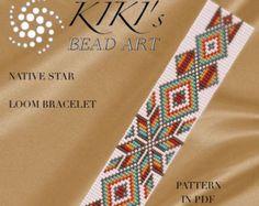 Bead loom pattern Native American ethnic by KikisBeadArts on Etsy